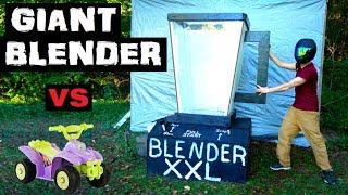 World's LARGEST BLENDER!!  vs  Power Wheels! (replica money)