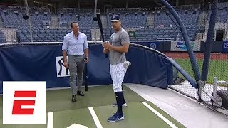 [Exclusive] Giancarlo Stanton and Alex Rodriguez talk batting strategy, Yankees & more   ESPN