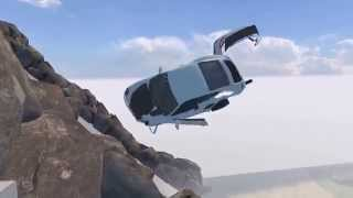 BeamNG Drive Alpha Porsche 911 GT2 v4 1 Crash Testing  HD720P