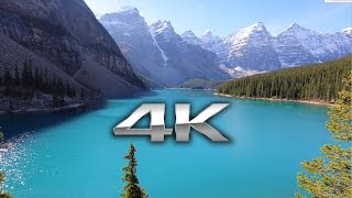 Endless Looping 4K Scene: Moraine Lake, Banff Alberta + Nature Sounds Screensaver