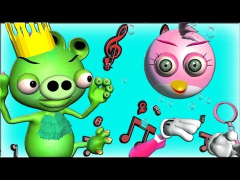 ANGRY BIRDS vs. BAD PIGGIES in a DANCE OFF 3D animated parody ☺ FunVideoTV Style ;
