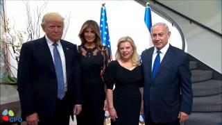 PM Netanyahu and Mrs Sara Netanyahu Host US President Trump and First Lady Melania Trump