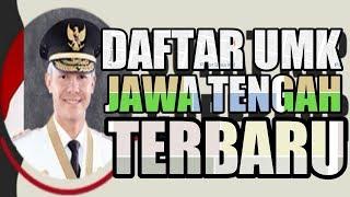 DAFTAR UMK JATENG TERBARU