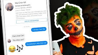Pranking People on Facebook with Song Lyrics | HALLOWEEN EDITION