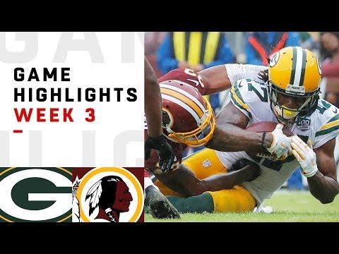 Xxx Mp4 Packers Vs Redskins Week 3 Highlights NFL 2018 3gp Sex