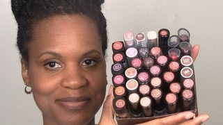 Massive Wet n Wild Lipstick Swatches on Dark Lips