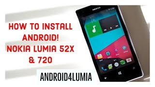 How to install Android on Windows Phone! | Nokia Lumia 520, 521, 525, 526 & 720 | Android4Lumia