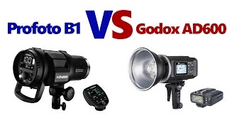 Profoto B1 vs  Godox AD600   Flashpoint Xplor 600 TTL
