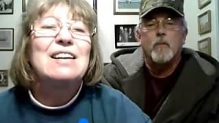 Cute Old Couple On Webcam