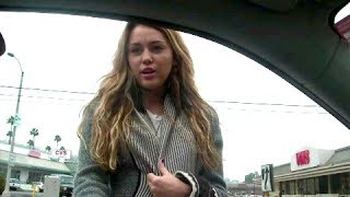 Miley Cyrus Confronts Paparazzi About Following Her! [2010]