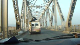 Crossing of  Brahmaputra River bridge in Guwahati
