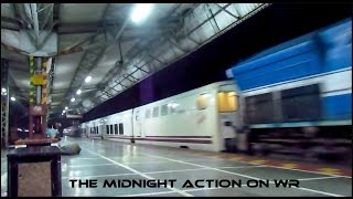 MIDNIGHT TRAINS & the SURPRISE TALGO in RAIN  - INDIAN RAILWAYS