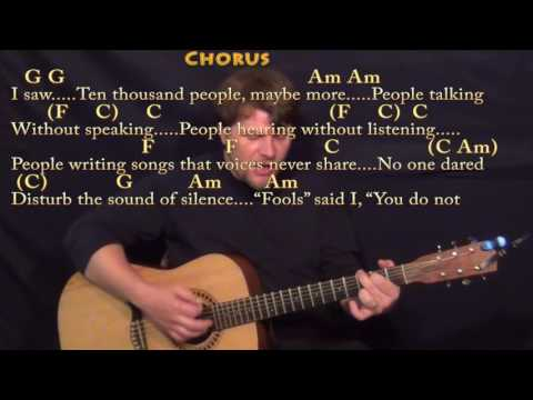 The Sound of Silence (Simon & Garfunkel) Strum Guitar Cover Lesson in Am with ChordsLyrics