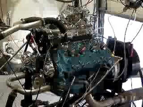 286 supercharged Ford flathead on dyno
