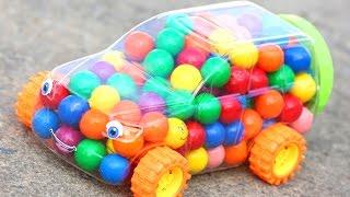 Gumballs Car Surprise Kinder Egg Frozen Elsa Candy Finding Dory Candy Rings