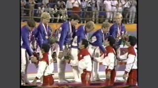 1984 Olympics - Men's Team Gymnastic Medal Ceremony