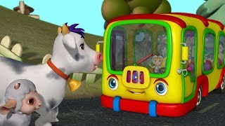 Old MacDonald Had a Bus | Nursery Rhymes for Children | Infobells