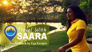Travel With Saara |  Jungle Beach By Uga Escapes | Sri Lanka | TRAVEL VLOG #1