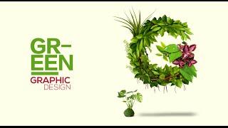 Graphic Design - Green Text - Adobe Photoshop