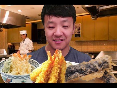 watch 12 Course TEMPURA Dinner in Tokyo Japan!