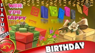 Happy Birthday Wishes, Daughter, Son, Father, Mother, Brother, Sister, Animation,Whatsapp Video
