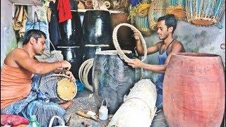 দুর্গাপূজাকে সামনে রেখে ঢাক-ঢোলসহ বাদ্যযন্ত্র তৈরির শিল্পীরা | Durga Puja | Somoy TV