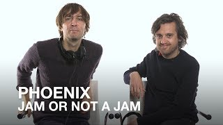Thomas Mars and Christian Mazzalai of Phoenix play Jam or Not a Jam!