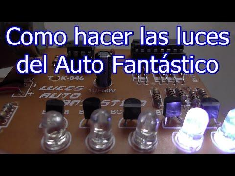 Como hacer las luces del auto fantástico tutorial