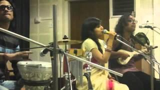 Satyaki Banerjee and Sahana Bajpaie singing