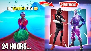 This Weird Girl BOUGHT Me every skin I wanted for 24 Hours... I think I'm in Love...