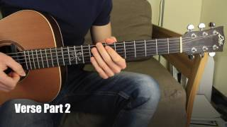 #1 Beauty and the Beast Fingerstyle Guitar Lesson Chord Melody