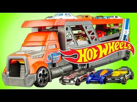 Camion Hot Wheels lanceur Voitures Blastin Rig Jouet Review Juguetes | Toys for Kids