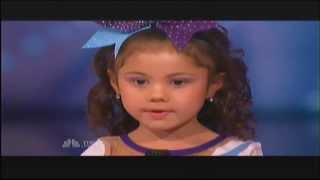 5 Year Old Darby Does Amazing Cheerleading Stunts (Full Audition)
