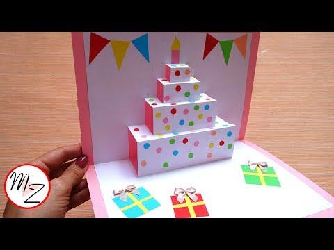 Xxx Mp4 DIY Cake Pop Up Card For Birthday Easy 3D Cards DIY Maison Zizou 3gp Sex