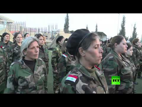 سورية اول وحدة نسائية لقوات الدفاع الوطني