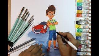 Kicko and super speedo cartoon drawing
