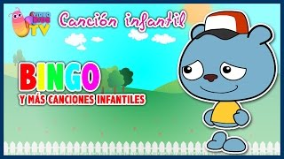 ♫♪ BINGO ♫♪ canción infantil completa con dibujos animados