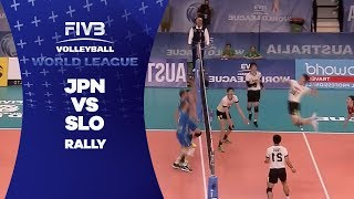 Amazing rally between Japan and Slovenia - World League 2017