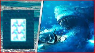 COMO FAZER UM PORTAL PARA O MUNDO DO MEGATUBARÃO (Mega Tubarão - The  Meg ) - Minecraft