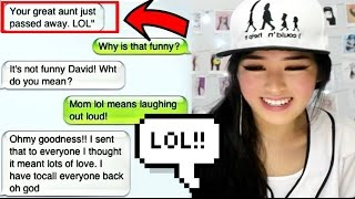 REACTING TO FUNNY TEXT FAILS!!