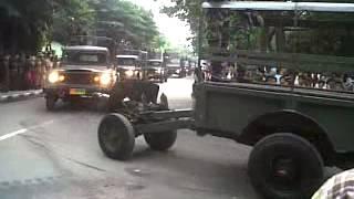 Parade Tank TNI AD di Kodam V Brawijaya
