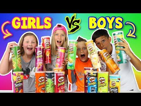 Xxx Mp4 GIRLS Vs BOYS Pringles Challenge 3gp Sex