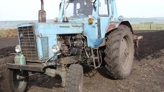 Tractor MTZ-80L, plowing the garden /// Трактор МТЗ-80Л, вспашка огорода