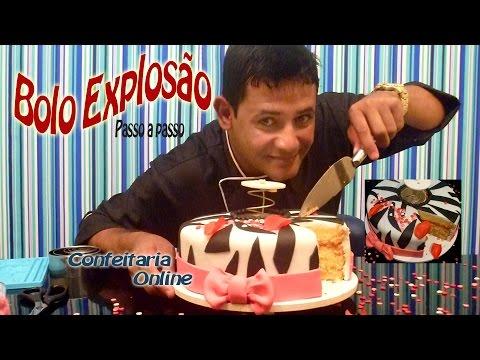 Bolo Explosão de Petalas na hora de cortar seu bolo Efeito zebra e laços