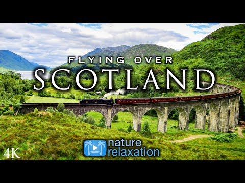 FLYING OVER SCOTLAND Highlands Isle of Skye 4K UHD Drone Film Healing Music for Stress Relief