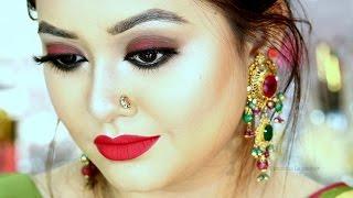 Pohela Boishakh Makeup Look || Bangla New Year 2017