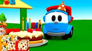 Leo el Pequeño Camión - Pastel de Cumpleaños