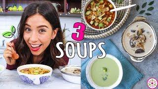 3 VEGAN SOUPS! Easy And Simple 🍲Rawvana