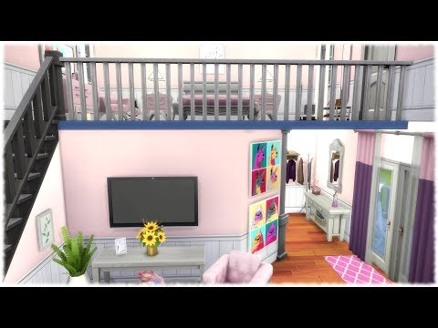 Xxx Mp4 The Sims 4 Speed Build PINK BASE GAME LOFT NO CC 3gp Sex