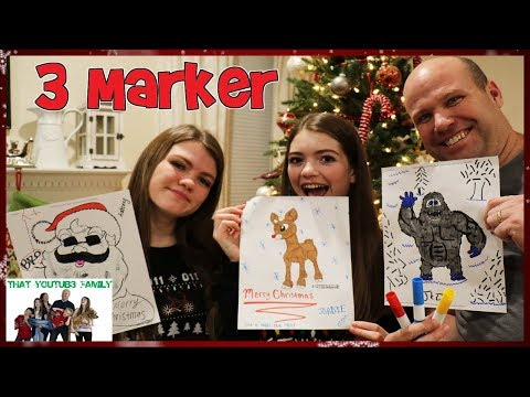Family 3 Marker Challenge / That YouTub3 Family